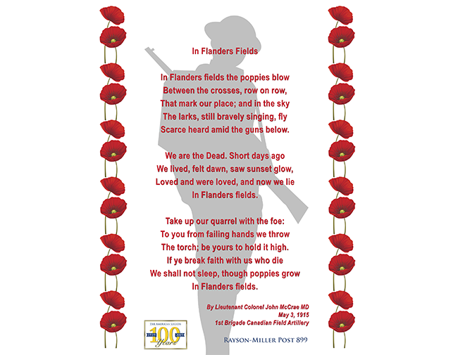 Flanders Field Poem - ©